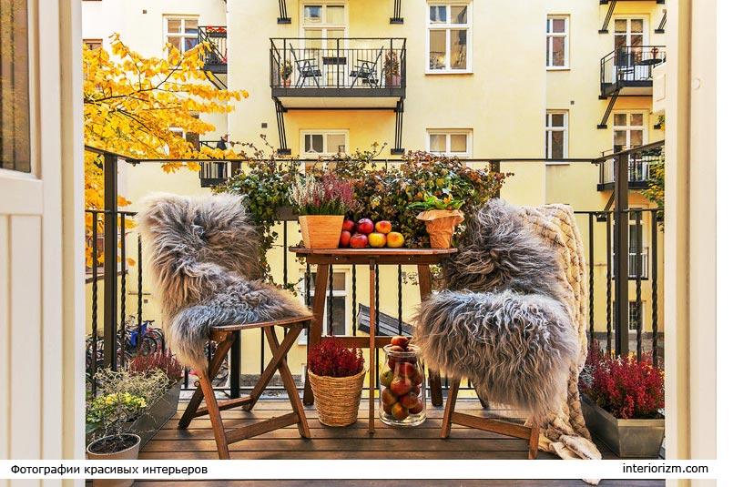 осенний декор балкона фото